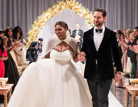 Serena Williams - Alexis Ohanian... EVLENDİLER!